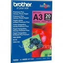 Фотобумага Brother глянцевая, Premium Plus Glossy Photo Paper, А3, 260гр/м2, 297мм х 420мм, 20 листов (BP71GA3)
