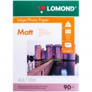Фотобумага Lomond матовая, односторонняя Single Sided Matt Inkjet Photopaper А3, 90гр/м2, 297мм х 420мм, 100 листов (0102011)