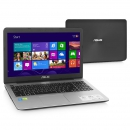 Ноутбук ASUS X555Ln 15.6 1366х768 Intel Core i5-4210U 1.7GHz, 4Gb, 500GB, DVD-RW, Nvidia 840M 2G, Wi-Fi, BT, Cam, Win8, dark grey/silver