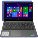 Ноутбук Dell Inspiron 5558 15.6 1366x768, Intel Core i3-4005U 1.7GHz, 4Gb, 500Gb, DVD-RW, WiFi, BT, Win10, Soft touch Palmrest, голубой