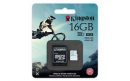 Флеш карта microSD 16GB Kingston microSDHC Class 10 UHS-I U3 for Action Cameras (SD адаптер) 90MB/s (SDCAC/16GB)