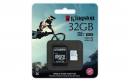 Флеш карта microSD 32GB Kingston microSDHC Class 10 UHS-I U3 for Action Cameras (SD адаптер) 90MB/s (SDCAC/32GB)
