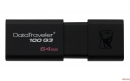 Флеш накопитель 64GB Kingston DataTraveler Traveler 100 G3, USB 3.0, черный (DT100G3/64GB)